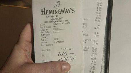 A regular customer at Hemingway's Bar and Grill