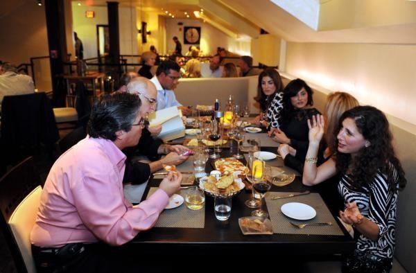 Upper level dining at Porto Vivo restaurant in