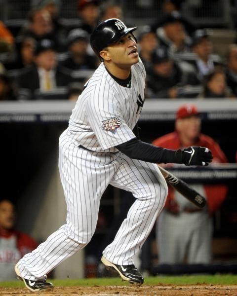 New York Yankees' Jerry Hairston Jr. (17) flies