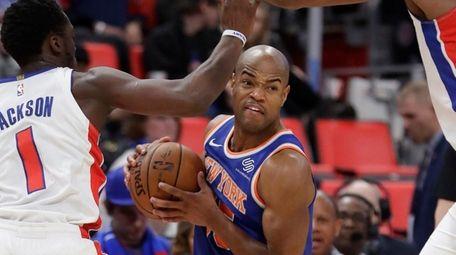 Knicks guard Jarrett Jack, shown here protecting the