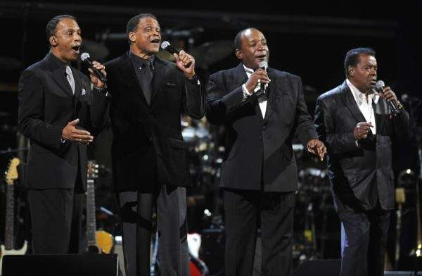 Little Anthony and the Imperials perform during the