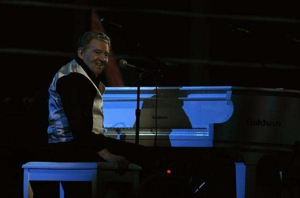 Jerry Lee Lewis opened the evening with