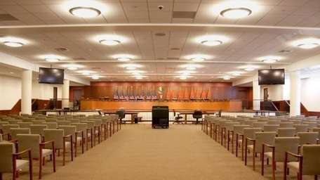 Nassau County legislative meeting room in Mineola (Sept.