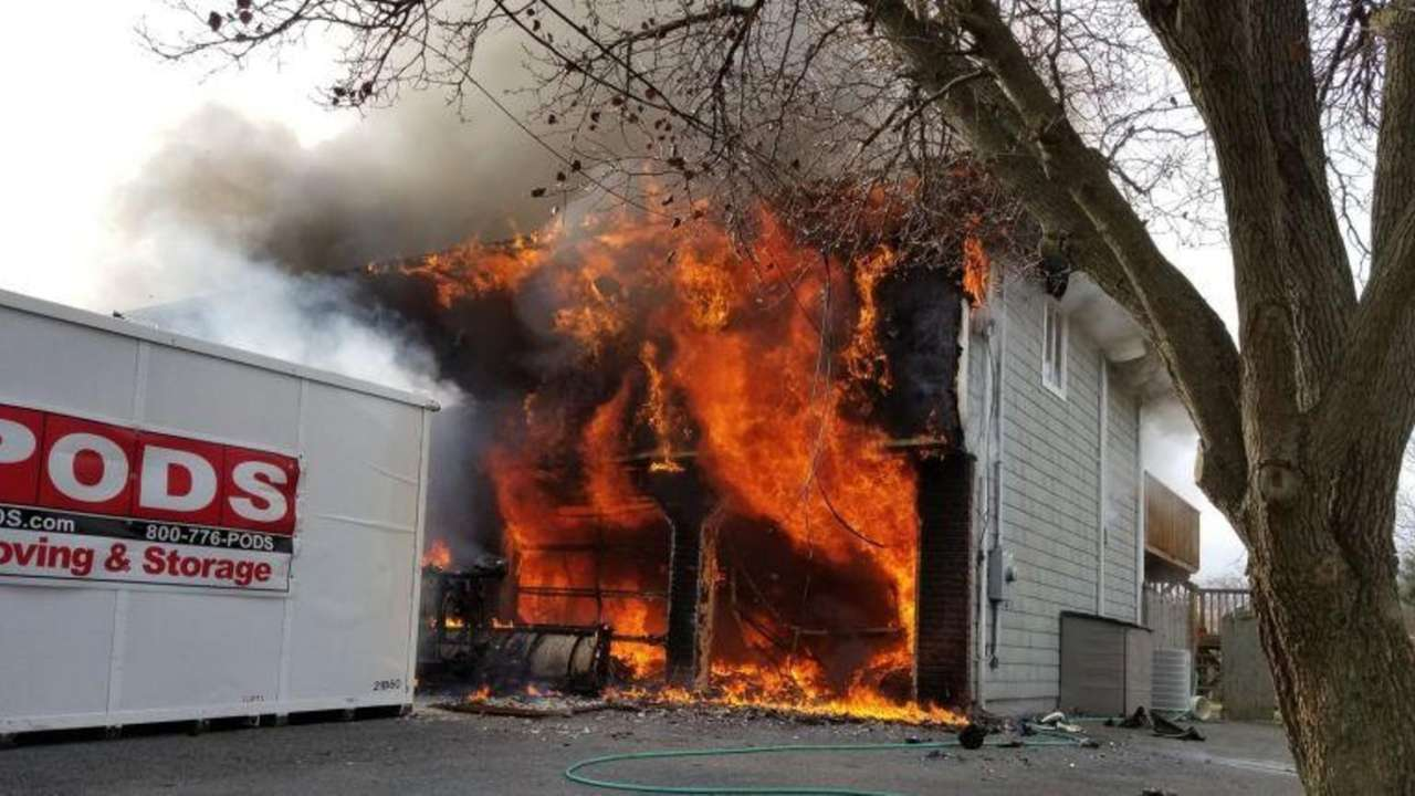 A large house fire broke out Sunday afternoon,