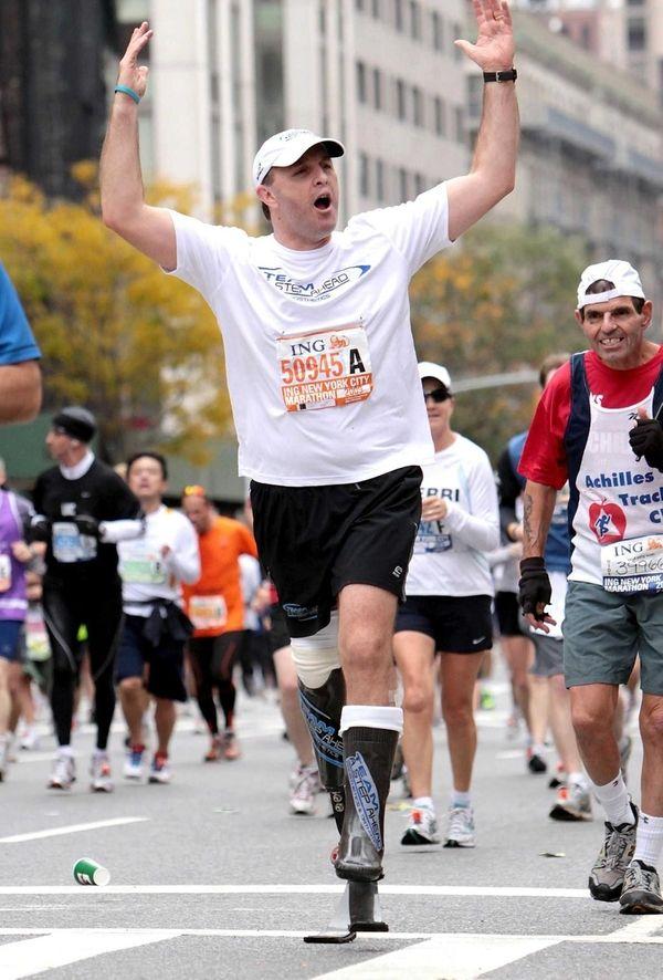 Mike LaForgia, of Smithtown, runs the NYC Marathon