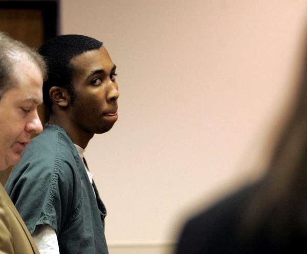 Jose Pacheco appears in court in Riverhead. (Jan.