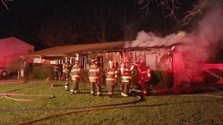Firefighters from six departments respond a house fire