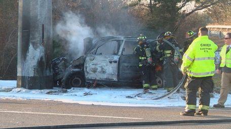 A motorist was killed north of Eastport on