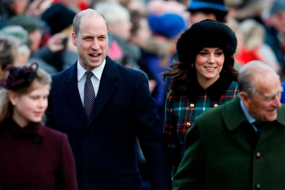 Prince William and Kate Middleton attend Christmas Day
