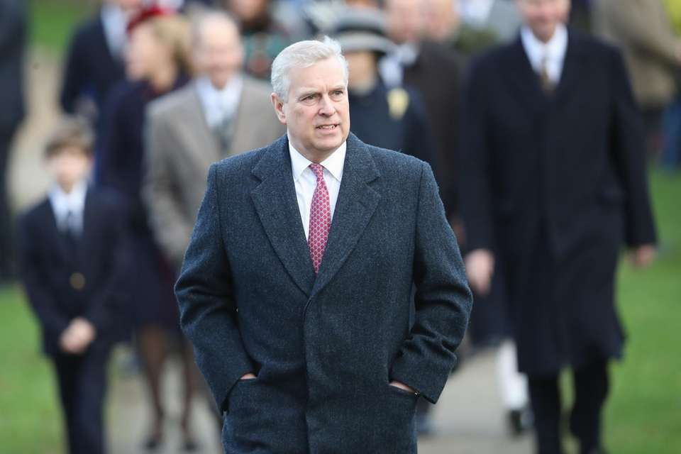 Prince Andrew attends Christmas Day service at the