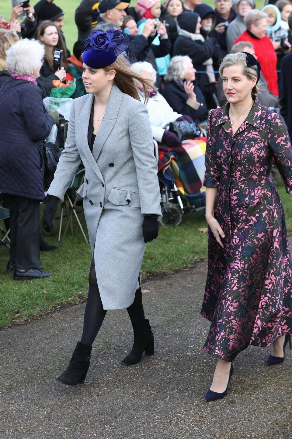 Princess Beatrice and Sophie, Countess of Wessex, attend