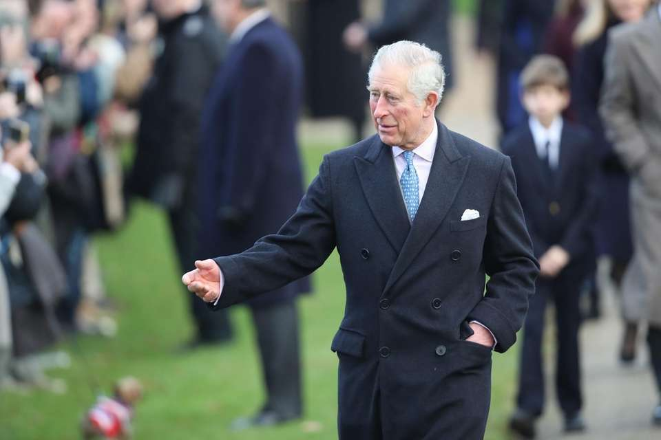 Prince Charles attends Christmas Day service at the