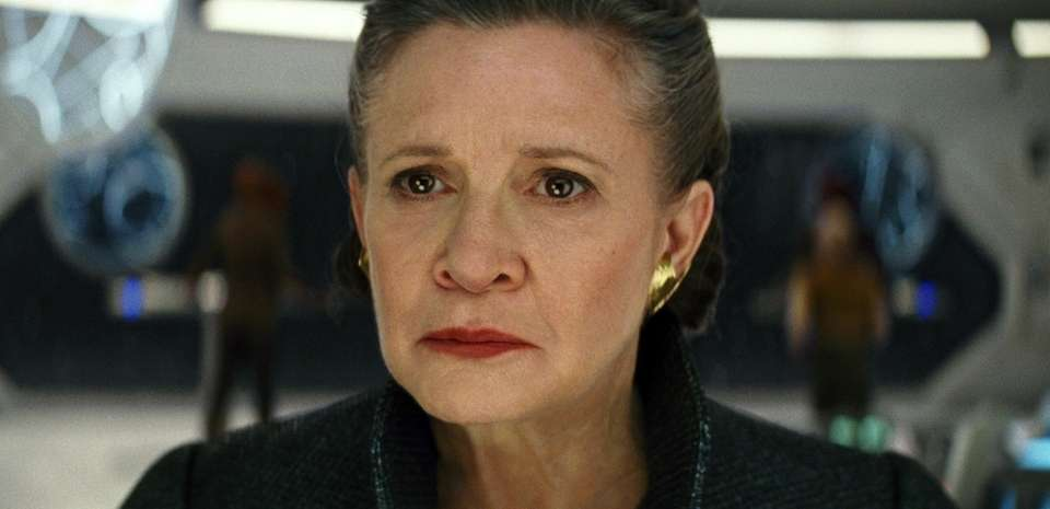 Carrie Fisher in her final appearance as General