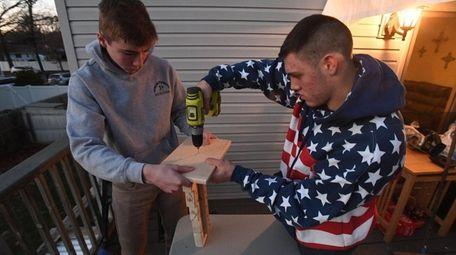 Logan Witte, left, of Islip Terrace, and Adam