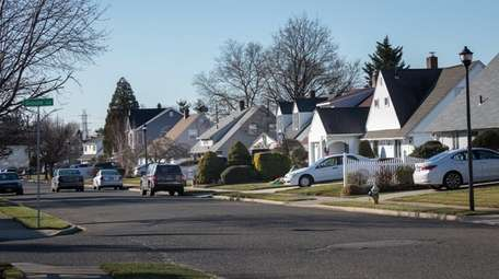 A street view of Albatross Road in Levittown,