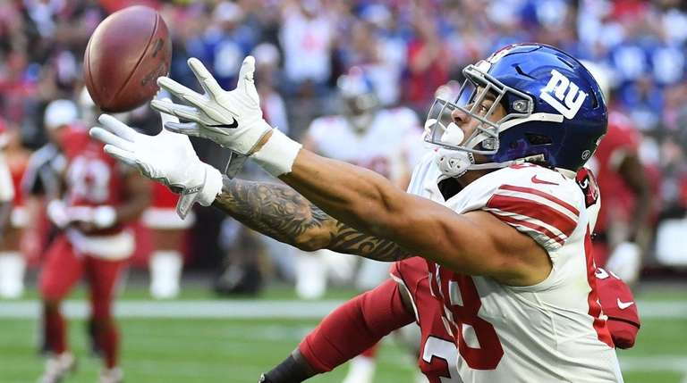 Giants tight end Evan Engram is unable to