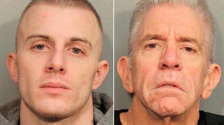 Nicholas Hollis, 29, left, and Dennis Sneden, 64,