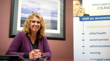Linda Langer, vice president at Access Staffing, poses