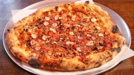 The vegan marinara pie at Wild Side Organic