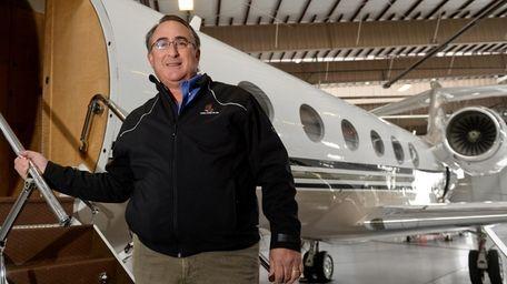 Adam Katz, founder of Talon Air stands next