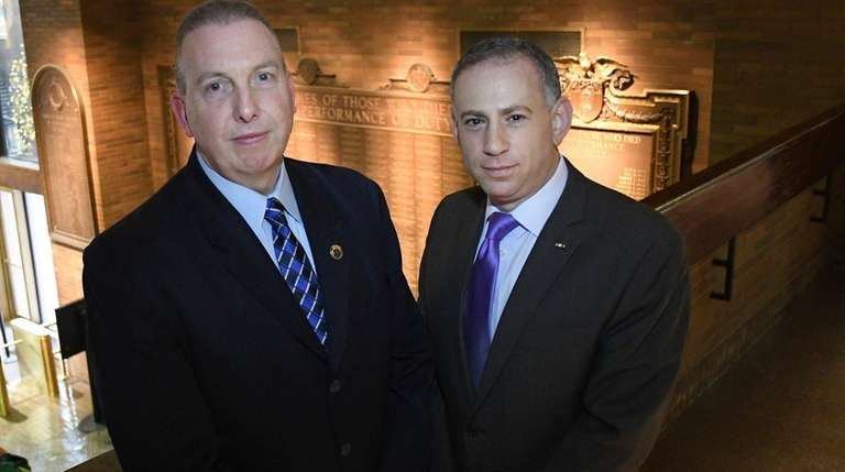 Lt. Michael Ryan, left, and Lt. Steven Weiss,