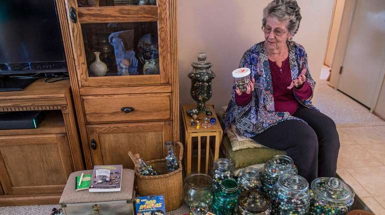 Judy Headley has collected 20,824 marbles since she