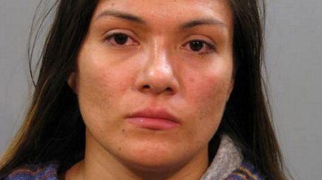 Telma Galdamez, 32, of Westbury, faces a Leandra's