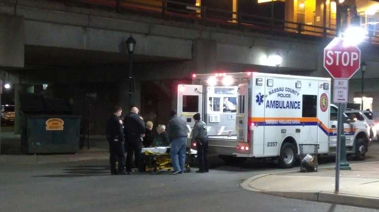 A man was taken by ambulance from the