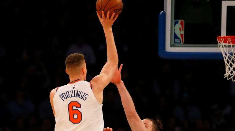 Kristaps Porzingis said defenders are hitting him lightly