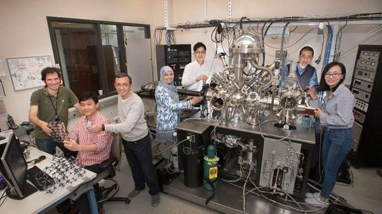 The team of BNL scientists in the lab's
