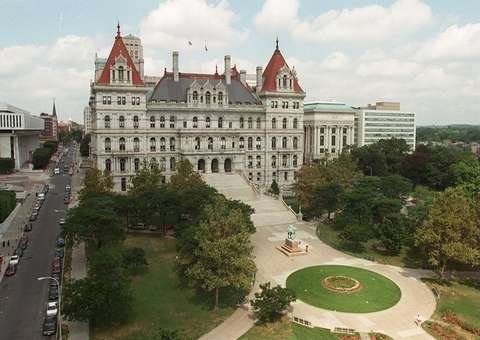 The New York State Capitol building, as seen