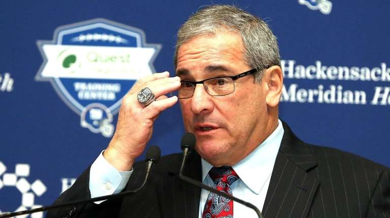New Giants GM Dave Gettleman speaks to members