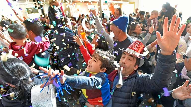 Kids ring in the New Year during local event