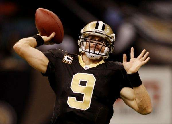 DREW BREES: 5,069 yards 2008, New Orleans Saints