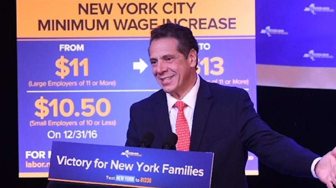 Gov. Andrew M. Cuomo touted the state's paid