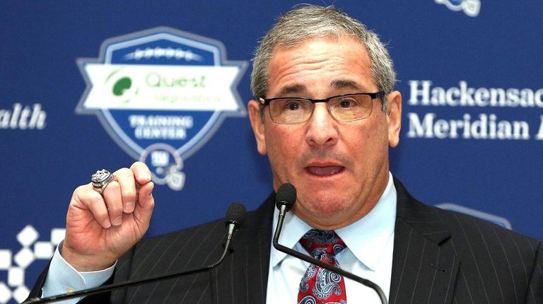 New Giants general manager media Dave Gettleman speaks