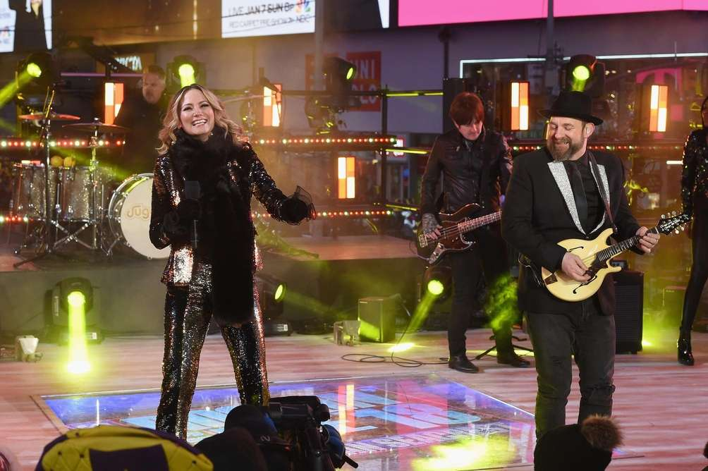 Sugarland performs during Dick Clark's New Year's Rockin'
