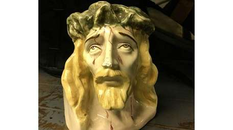 A statue of Jesus in the lost and