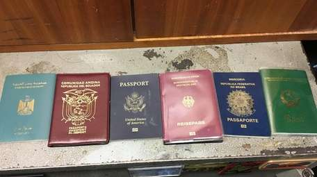An assortment of passports in the lost and