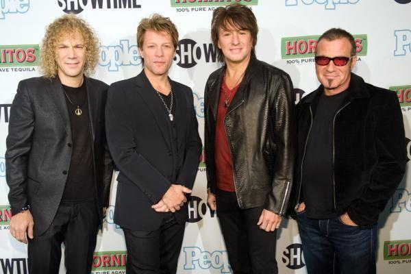 Bon Jovi band members David Bryan, Jon Bon
