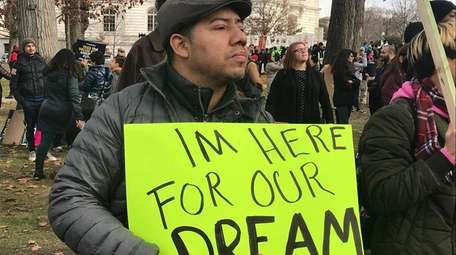 Carlos Reyes, 40, a Salvadoran immigrant who lives