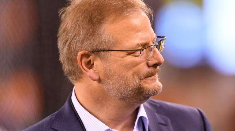 Jets GM Mike Maccagnan looks on during the