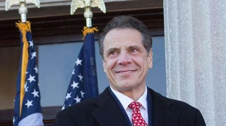 Gov. Andrew M. Cuomo speaks before swearing into