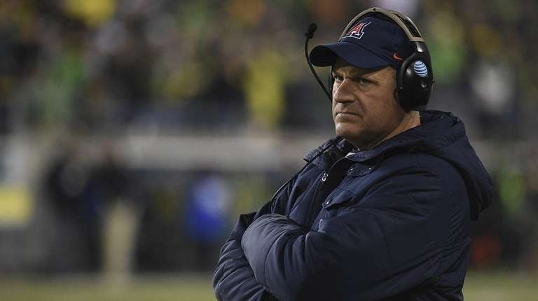 Head coach Rich Rodriguez of the Arizona Wildcats