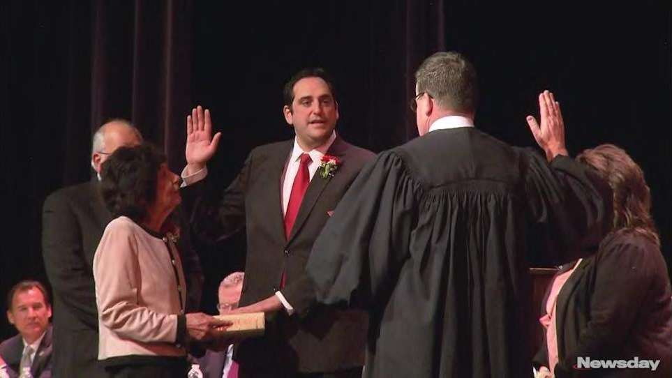 Chad Lupinacci was officially sworn in as Huntington Town's