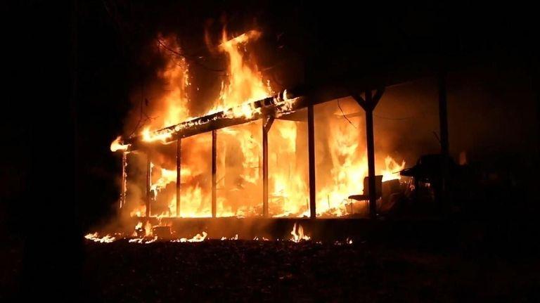 A fire Tuesday, Jan 2, 2018, at a