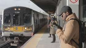 Long Island Rail Road said trains were running