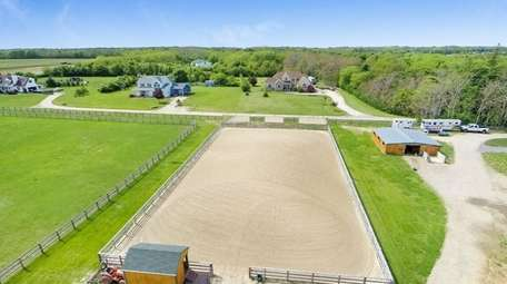 This Southold property sits on 10 acres and