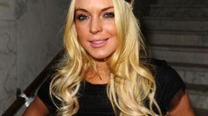 Actress Lindsay Lohan attends