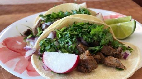 Steak tacos at Mi Puebla Restaurant & Grill,